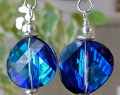 Bermuda Blue Swarovski Earrings