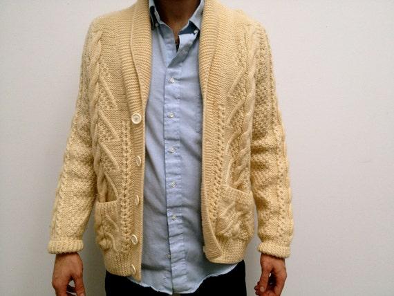 Rare Mens Vintage Handmade Cardigan