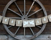 Sweet love personalized banner with doves