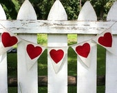 Fabric heart Garland,can be personalized with color of your choice