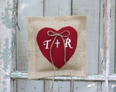Ring bearer pillow personalized with your initials