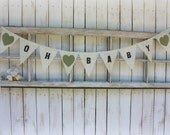 Oh Baby banner with  heart color of your choice