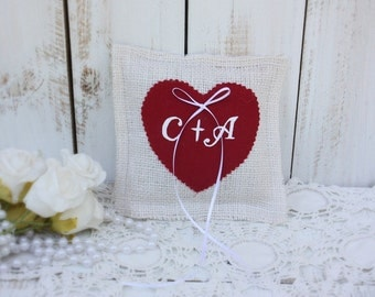 personalized pillow with heart color of your choice
