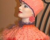 Hand crocheted Caplet / Handmade Poncho / Shawl / Cowl or Collar / Neck Warmer