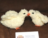 Hand crochet  mother and lbaby chick gift set / handmade amigurumi / Crochet and Hand embroidered hen and baby chicken / Duck / Love Birds