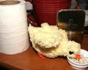 handmade yellow Chick amigurumi / Hand crochet yellow chick / yellow Chicken Little is ready to fly