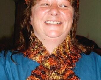 Handmade Fall and Winter Fashion Beanie / Fall colors Hat / Hand crochet Cloche / snood / Head Cover / Head Hugger