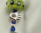Lampwork Glass and SS Bracelet OOAK Fun and Funky