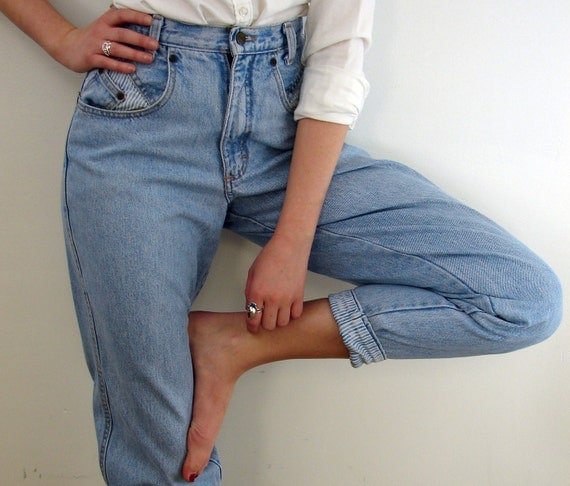 Vintage 80s High Waisted Jeans ... The Tide is High ... Size Small