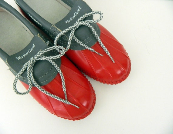 Vintage Rain Shoes or Galoshes ......Puddle Jumpers ...... Size 7