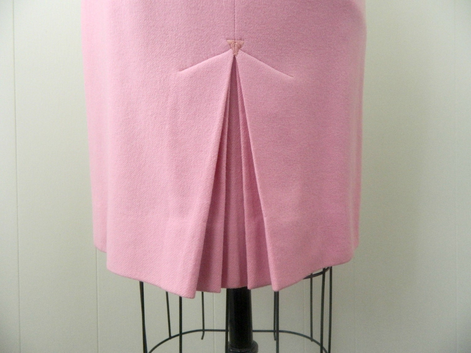 vintage pencil skirt 1960s pink skirt origami kick