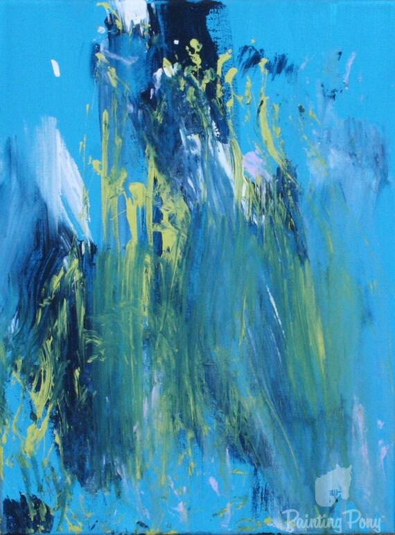 SALE Super Blue from pony artist MINNOW