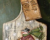 Reserved for cloie -Primitive Cutting/ Bread Board Wynter Thyme-Hand painted WWHOFG