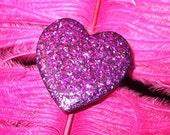 Glitter Heart Ring - choose your colour and style - purple, green, gold, red, silver, blue...