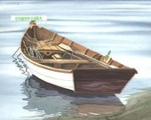 Cape Cod Row Boat Print, free shipping US and Canada, signed by Jeanette Robertson