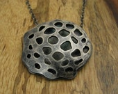 Lotus Seed Pod Necklace in Sterling Silver