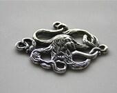 Antique Silver Plated Trinity Brass Sea Maiden Mermaid Pendant Connector Link Charm DESTASH