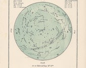 1910 march and/or april celestial blue antique starmap