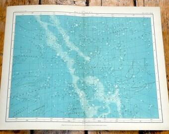 1908 astronomy chart original antique celestial print - map of the stars no 4