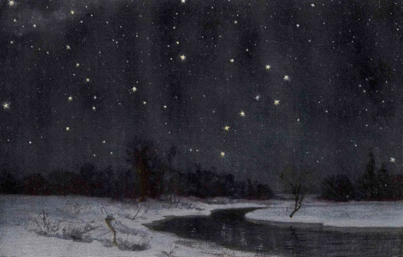 1900 northern lights original antique celestial print