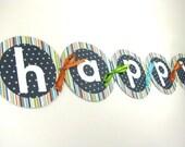 Lil' Robots Happy Birthday Banner
