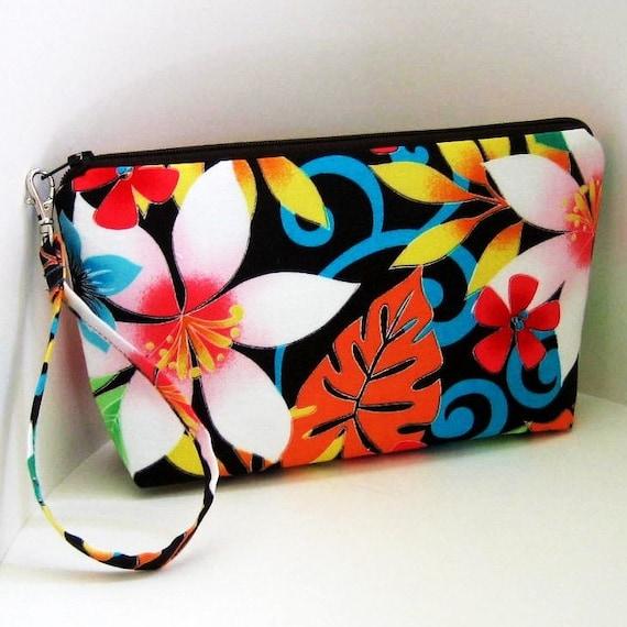 Zippered Wristlet or Make-up Bag TROPICANA