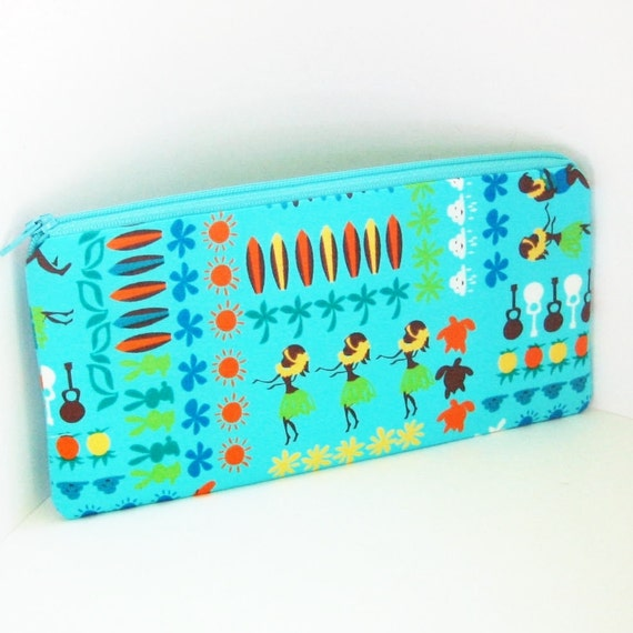 Pencil Pouch  HAWAII PARADE Turquoise