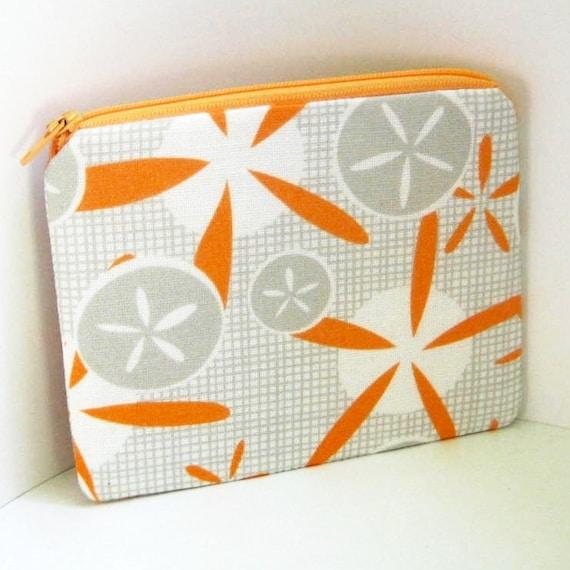 Small Zipper Pouch SAND DOLLAR Change purse