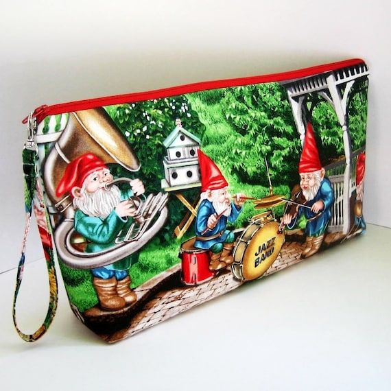 Project Bag MUSICAL GNOMES Large Zipper Pouch