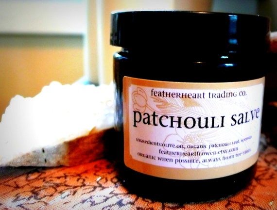 patchouli salve. 4 oz amber glass jar. organic when possible. always from the earth