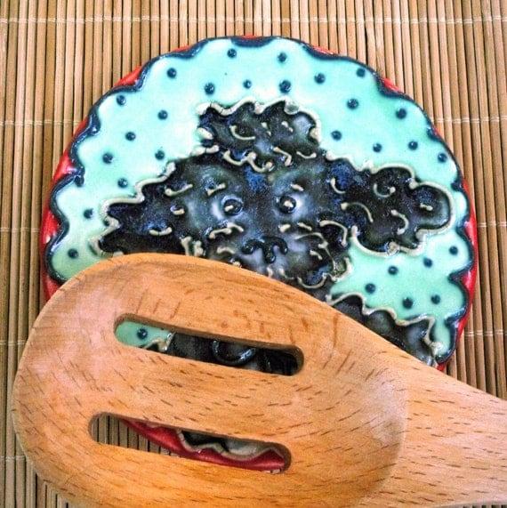 Black  Poodle  Spoon Rest