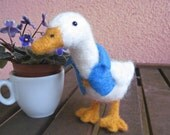 Dapper Duck, needle felted animal sculpture