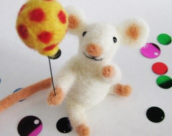 Mouse party, needle felted animal