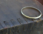 DEARLY BELOVED. Wedding rings Solid 14k gold His & Hers matching rustic hammered or smooth flat or smooth wedding bands HAND made to order