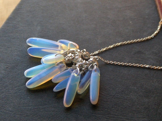 Storm in Sterling silver. Opalite Fringe necklace