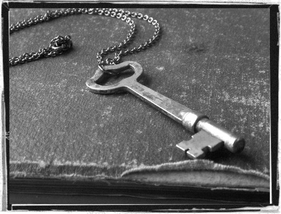 My Secret .   Antique Skeleton Key Necklace