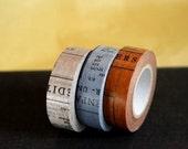 OLDBOOKS Washi Tape Set of 3 Japanese Washi Paper Tape - 147ft total