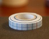 Japanese Masking Tape - Blue Flat Grid 12mm washi tape SINGLE