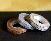 Old Books Japanese Masking Washi Tape set of 3 - 10mm Oldbooks from PrettyTape