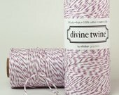 PURPLE Bakers Twine Purple Twine with White Stripes - Cotton 240 Yards Scrap Booking Packaging
