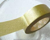 Japanese Masking Tape gold washi tape made of Washi Paper Solid GOLD tape 15mm MT craft supply