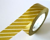 Thin line THICK GOLD Washi Tape 15mm Japanese MT Masking Tape - PrettyTape