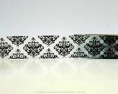 Black Damask Tape Black and White Damask Washi Tape (Chugoku)  Paper Tape