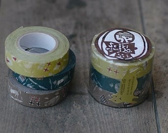Perfect Gifts for Cat Lovers - CAT Washi Masking Tape Set of 3