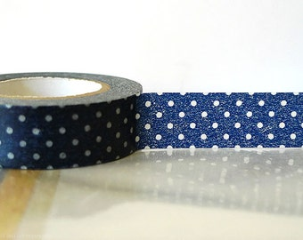 Navy Washi Tape NAVY BLUE Polka Dots Japanese Tape Navy Wedding