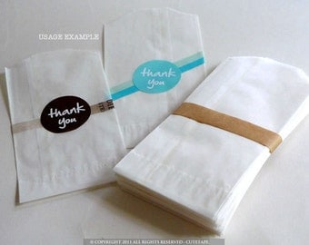 100 Glassine Bags wedding favor bags  MEDIUM 3 x 5.5 in