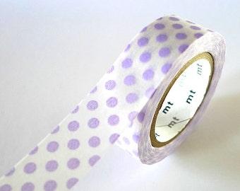 Light PURPLE Washi Tape BIG Dots 15mm Japanese MT Masking Tape - PrettyTape