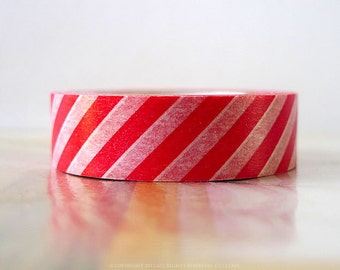 Thick Red Stripe Washi Tape Japanese Decorative Tape