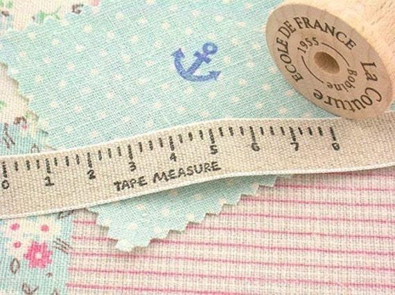 Cute Tape Measure Wooden Rubber Decorative Stamp