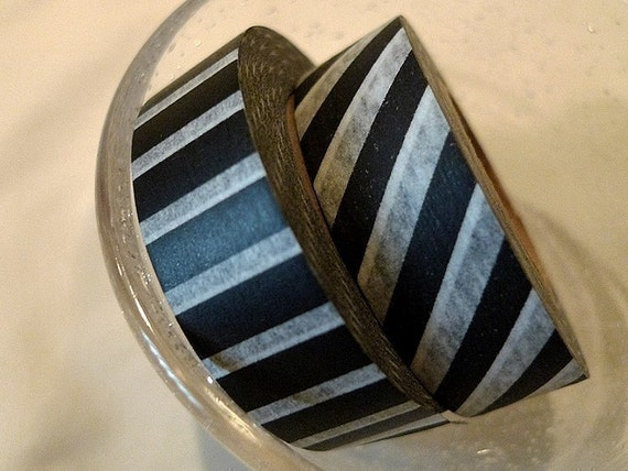 White and Black Masking Tape Japanese Piano Thick Stripes MT